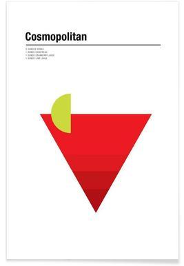 Cosmopolitan - minimalistisch poster