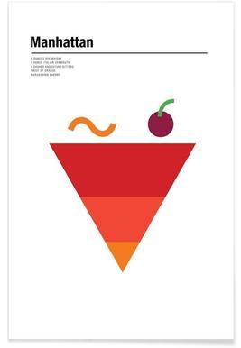 Manhattan - minimalistisch poster