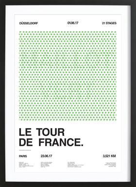 Maillot Vert Framed Print
