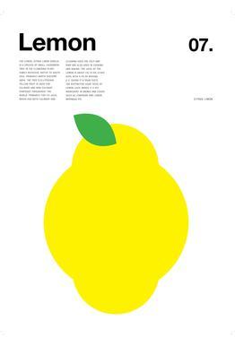 Lemon -Acrylglasbild
