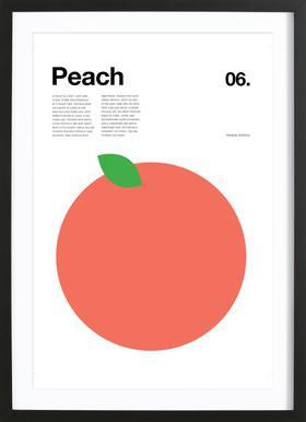 Peach -Bild mit Holzrahmen