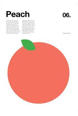 Peach -Acrylglasbild