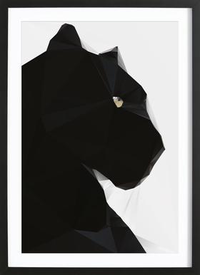 Black Panther Geo Framed Print