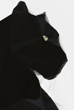 Black Panther Geo Acrylic Print