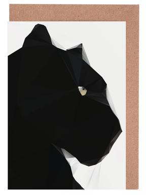 Black Panther Geo Greeting Card Set