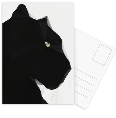 Black Panther Geo Postcard Set