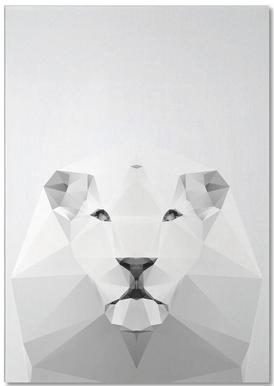 Geo White Lion Notepad