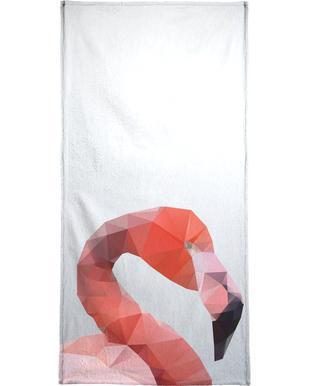 Geo Flamingo Bath Towel