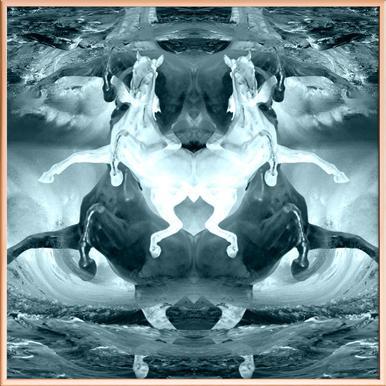 Pale horses -Poster im Alurahmen