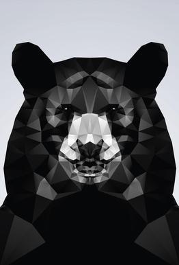 Geo Black Bear Acrylic Print