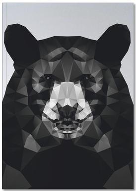 Geo Black Bear Notebook