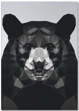 Geo Black Bear Notepad
