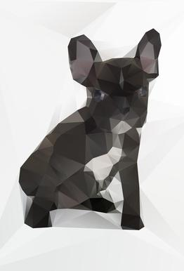 French Bulldog Aluminium Print