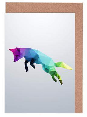 Glass Animals - Flying Fox Greeting Card Set