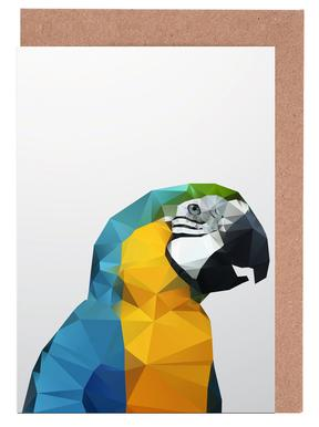 Geo Parrot Greeting Card Set