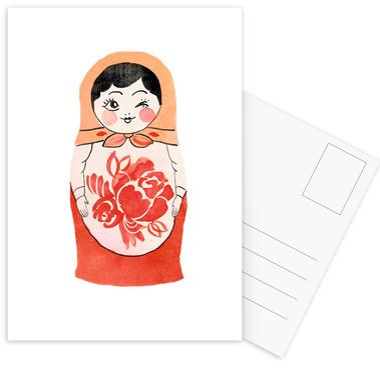 Matryoshka cartes postales