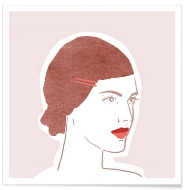 Girl With Hairclip affiche