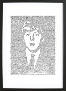 Paul affiche sous cadre en bois
