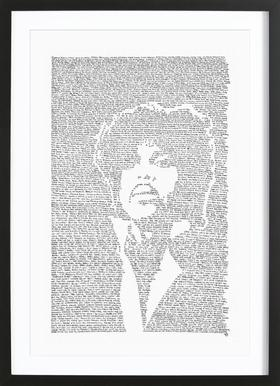 Prince affiche sous cadre en bois