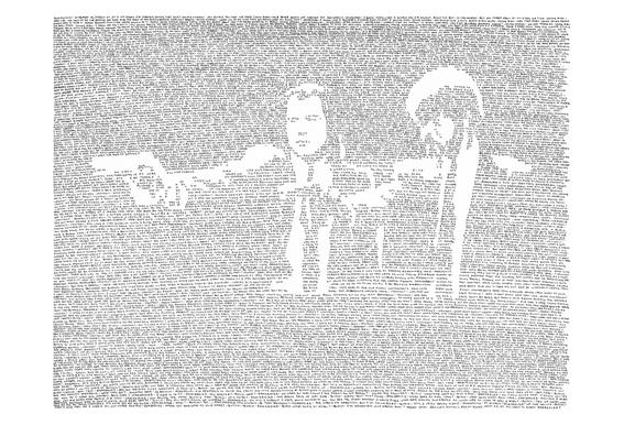 Pulp Fiction Impression sur alu-Dibond