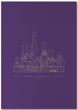 Willy Wonka's Chocolate Factory Purple Notebook