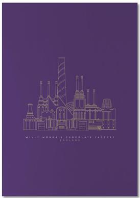 Willy Wonka's Chocolate Factory Purple Notepad