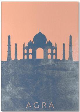 Agra -Notizblock