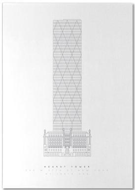 Hearst Tower -Notizblock