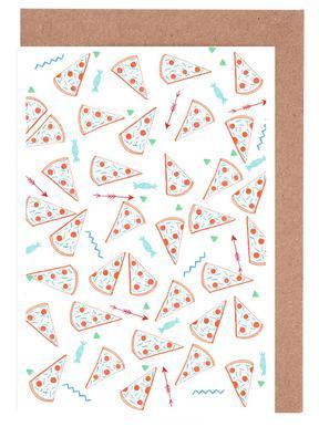 Pizza Greeting Card Set