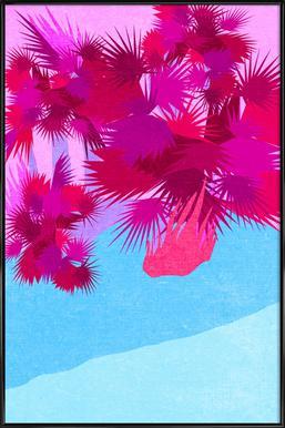 Palmen -Bild mit Kunststoffrahmen