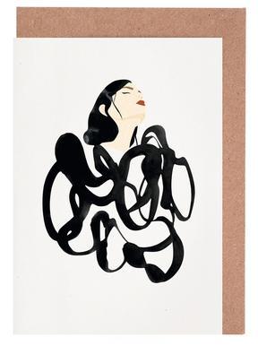 Ink Woman -Grußkarten-Set