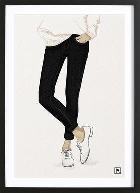 BB Shoes - Poster in houten lijst