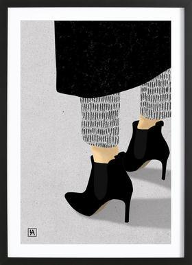 Legs & Shoes 1 affiche sous cadre en bois
