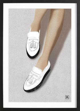 Legs & Shoes 2 affiche sous cadre en bois