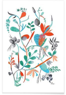Botanica Orange - Premium Poster