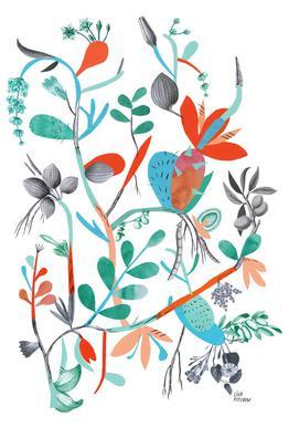 Botanica Orange Impression sur alu-Dibond