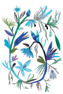 Botanica Clematis White alu dibond