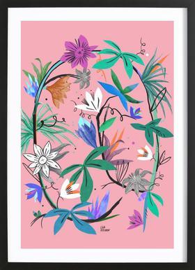 Botanica Passionflower 3 affiche sous cadre en bois