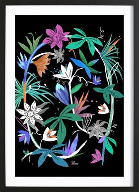 Botanica Passionflower 4 affiche sous cadre en bois
