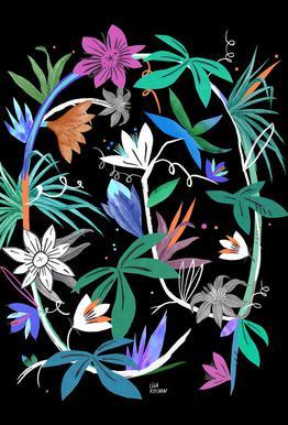 Botanica Passionflower 4 tableau en verre