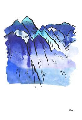 Japanese Mountains Impression sur alu-Dibond