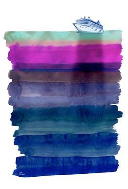 Silent Sea tableau en verre
