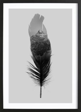 Feather - Affiche sous cadre en bois