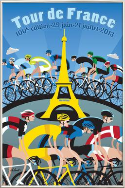 Tour de France Poster in Aluminium Frame
