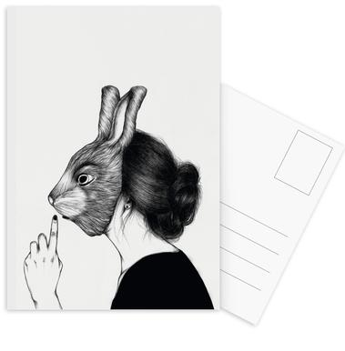Peculiar Rabbit Postcard Set