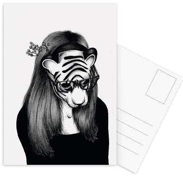 Peculiar Tiger Postcard Set