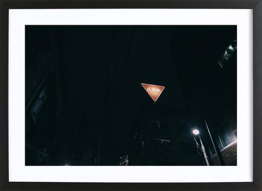 Tokio Nights ingelijste print