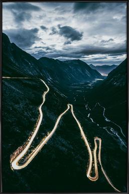 Trollstigen - Poster im Kunststoffrahmen