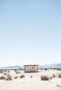 Desert House Aluminium Print