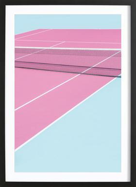 Pink Court - Net ingelijste print